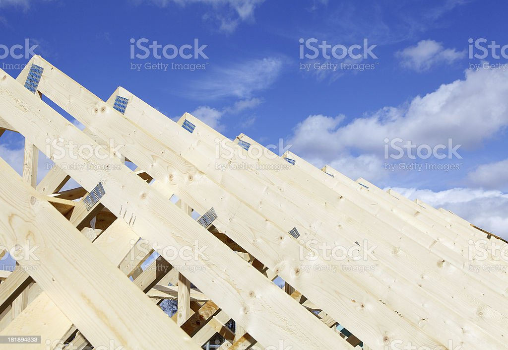 new timber roof stock photo