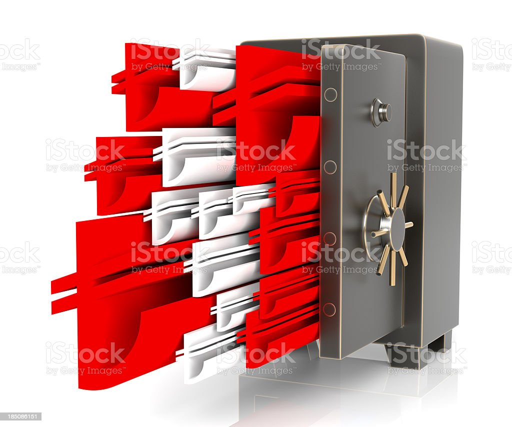 New TL signs flowing out safe stock photo