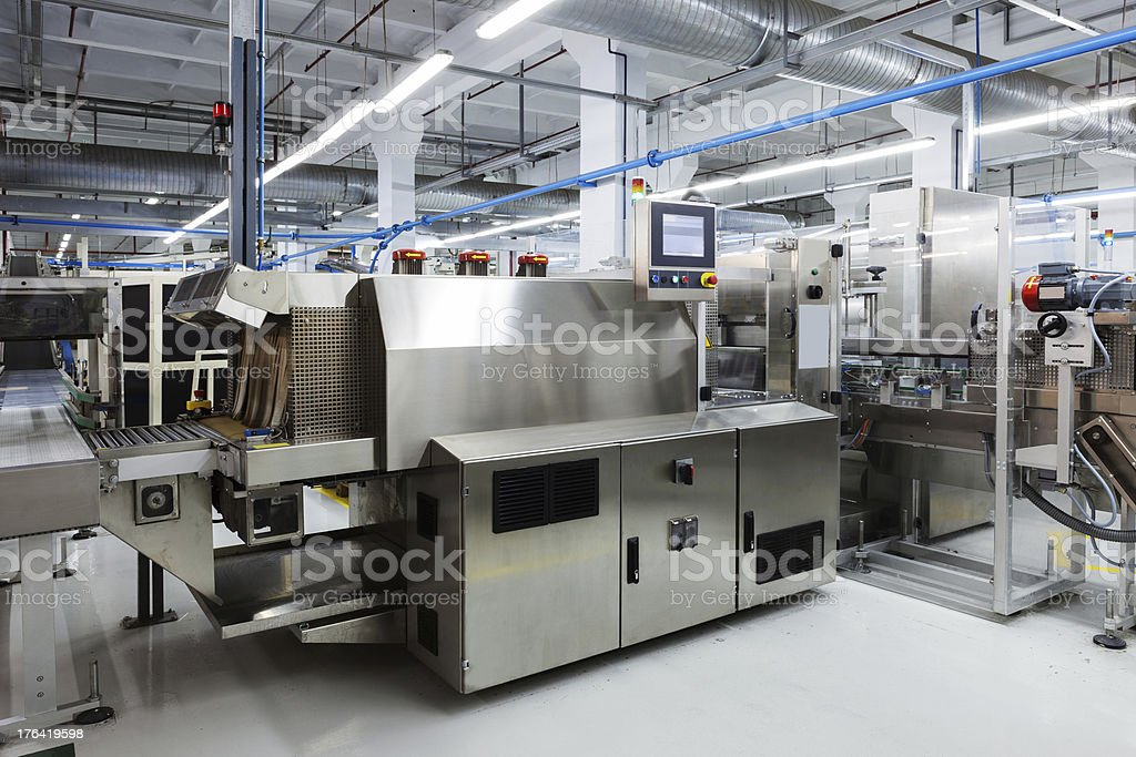 new tool in modern plant stock photo