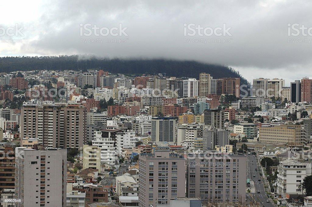 new town cityscape, Quito, Ecuador royalty-free stock photo