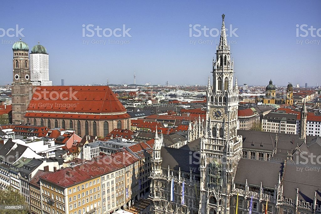 New Town Hall at Marienplatz in Munich royalty-free stock photo