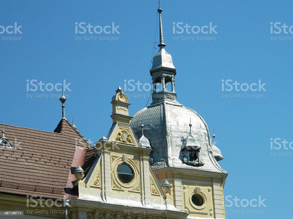 New town hall in Brasov, Romania. stock photo