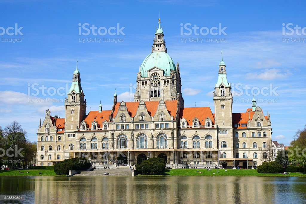 New Town Hall in Hannover Germany stock photo