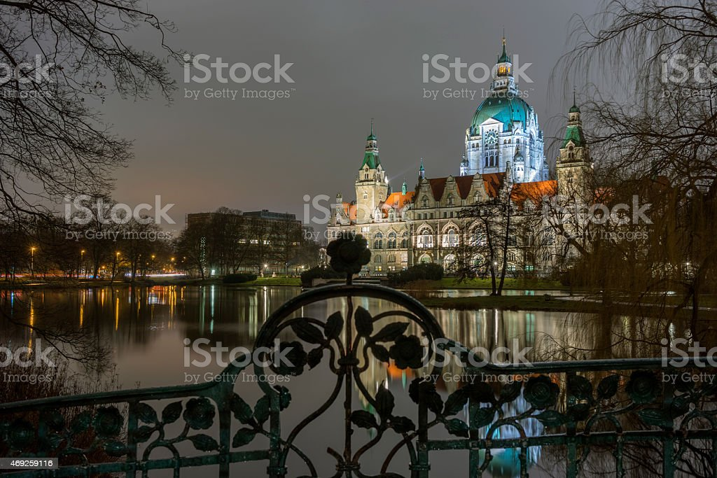New Town Hall in Hanover stock photo