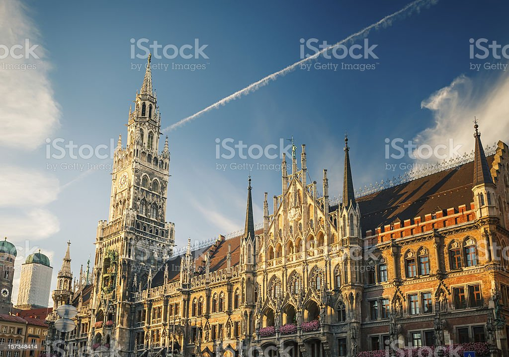 New Town Hall in Munchen stock photo