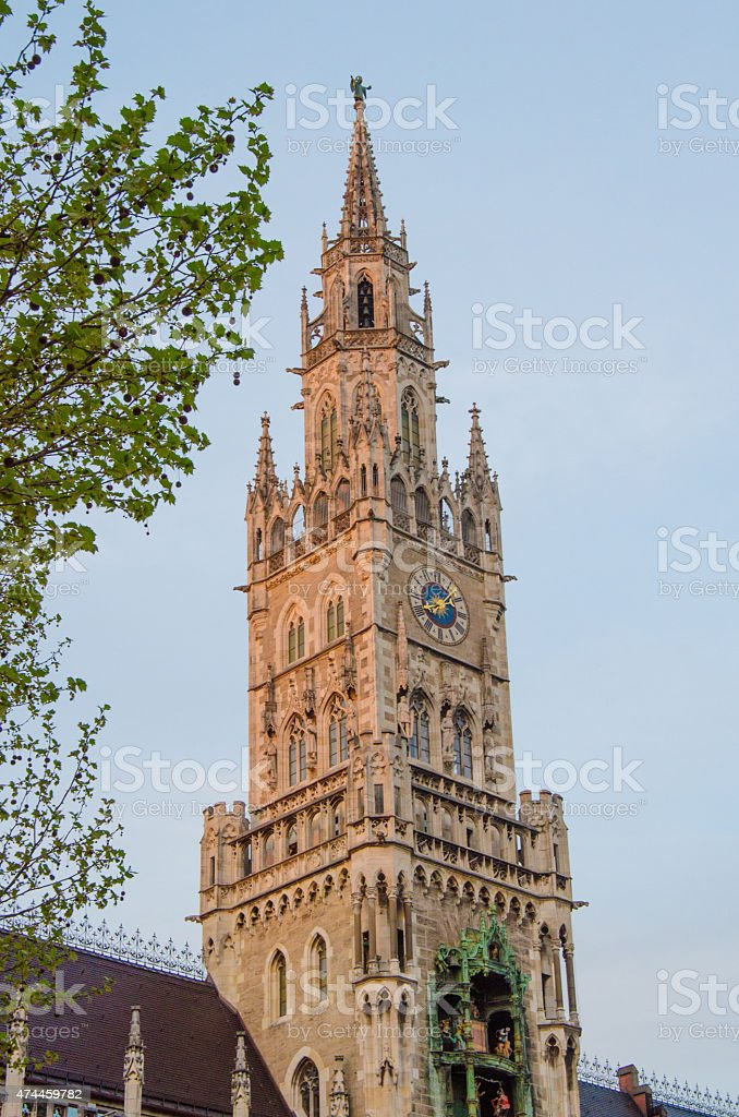 New Town Hall in Munich at Twilight stock photo