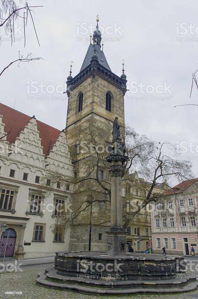 New Town Hall in Prague royalty-free stock photo