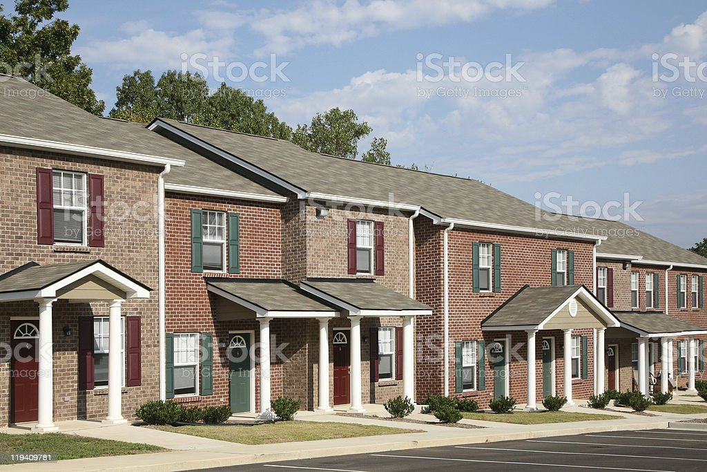 New townhome complex stock photo
