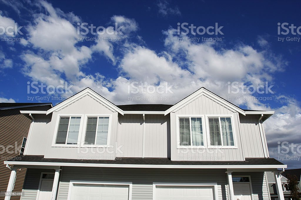New Townhouses royalty-free stock photo