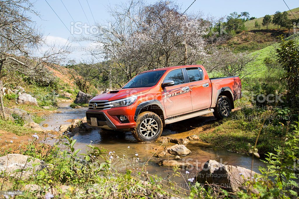 New Toyota Hilux 2015 car stock photo