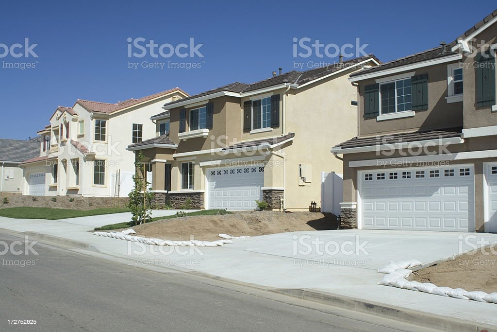 New Tract Homes stock photo