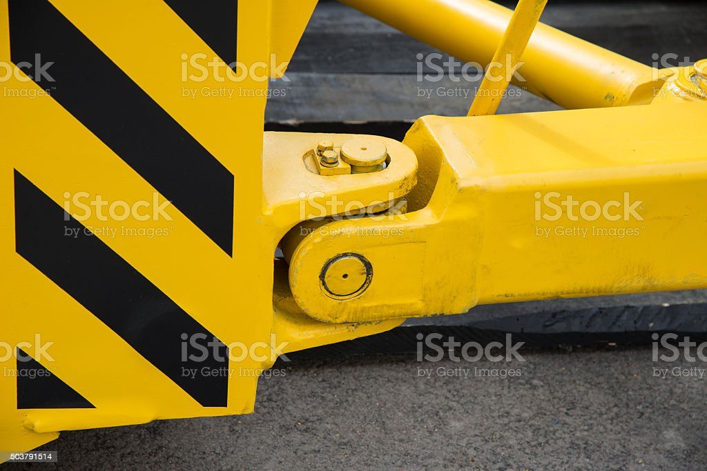 new tractor hitch with tow bar stock photo