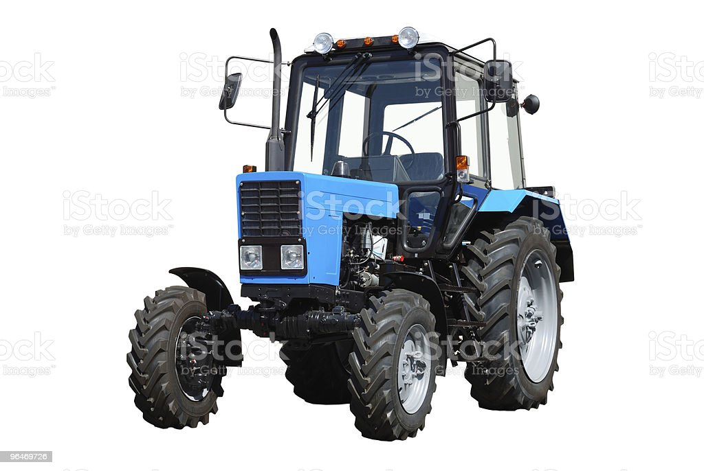 New tractor on white background royalty-free stock photo