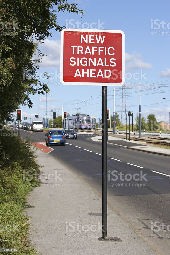 New Traffic Signals Ahead royalty-free stock photo