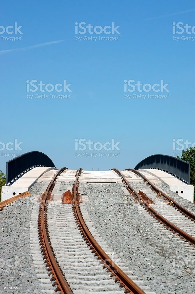 New tram bridge stock photo