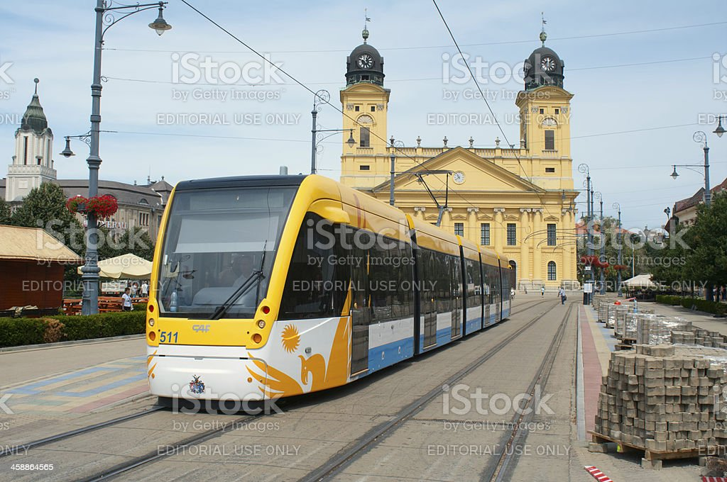 New tram in Debrecen royalty-free stock photo