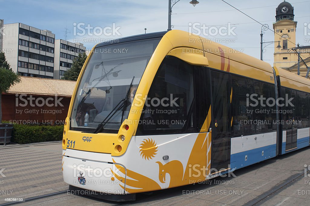 New tram of Debrecen royalty-free stock photo