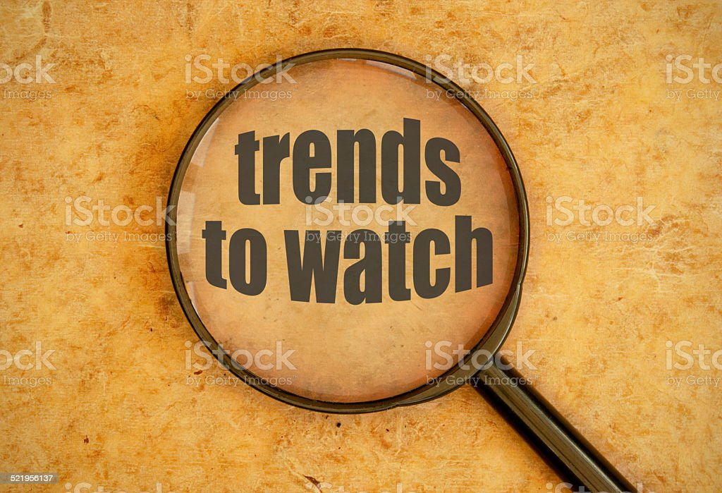 New trends stock photo
