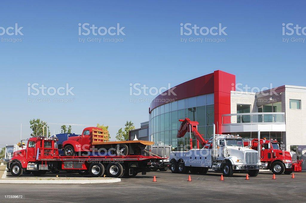 New Trucks in Dealership royalty-free stock photo