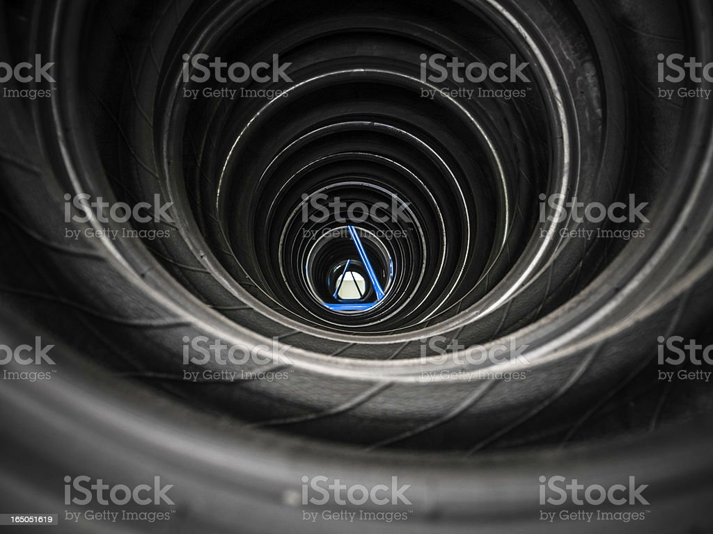 new tyre in storehouse royalty-free stock photo