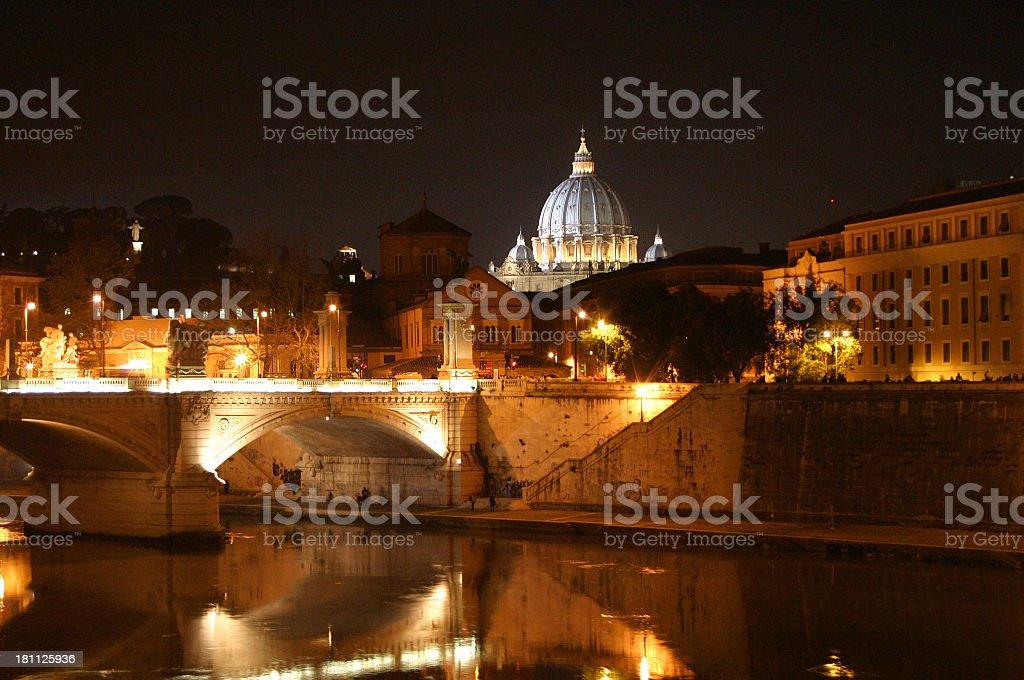 new vatican at night stock photo