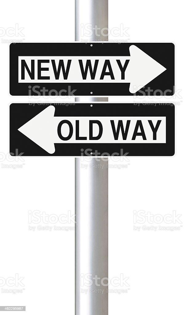 New Versus Old stock photo