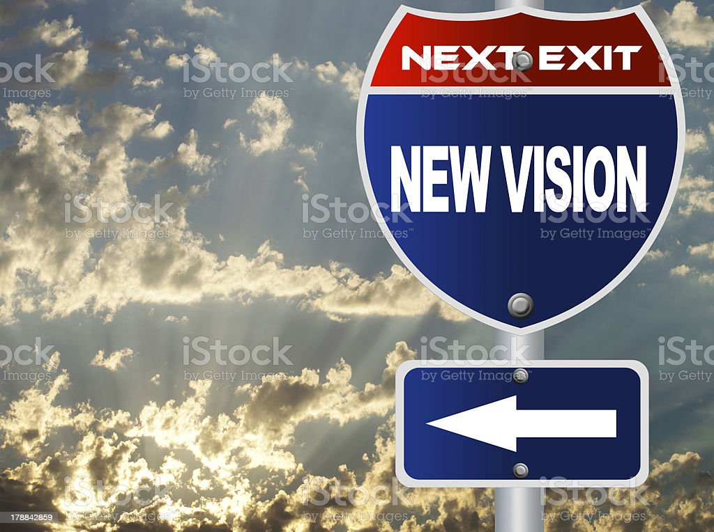 New vision road sign royalty-free stock photo