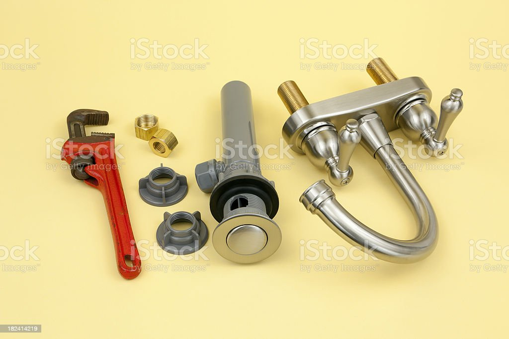 New Water Faucet royalty-free stock photo