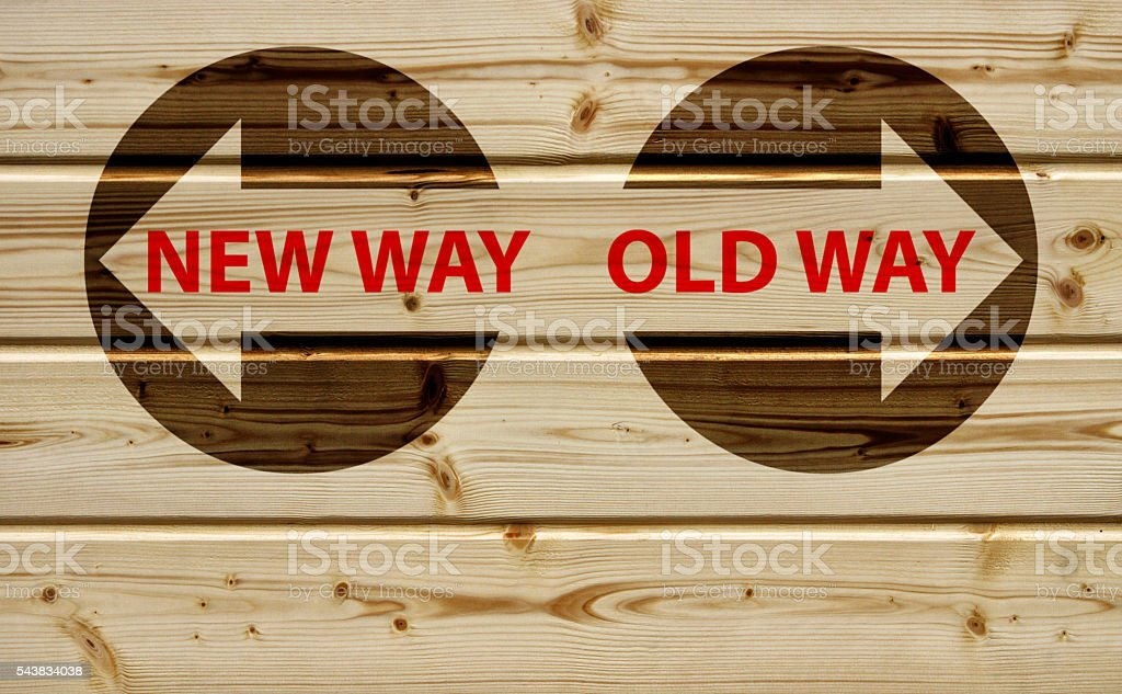 new way or old way stock photo