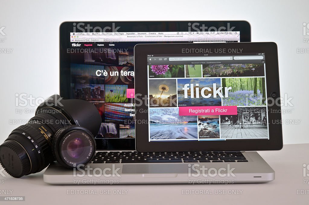 New website Flickr royalty-free stock photo
