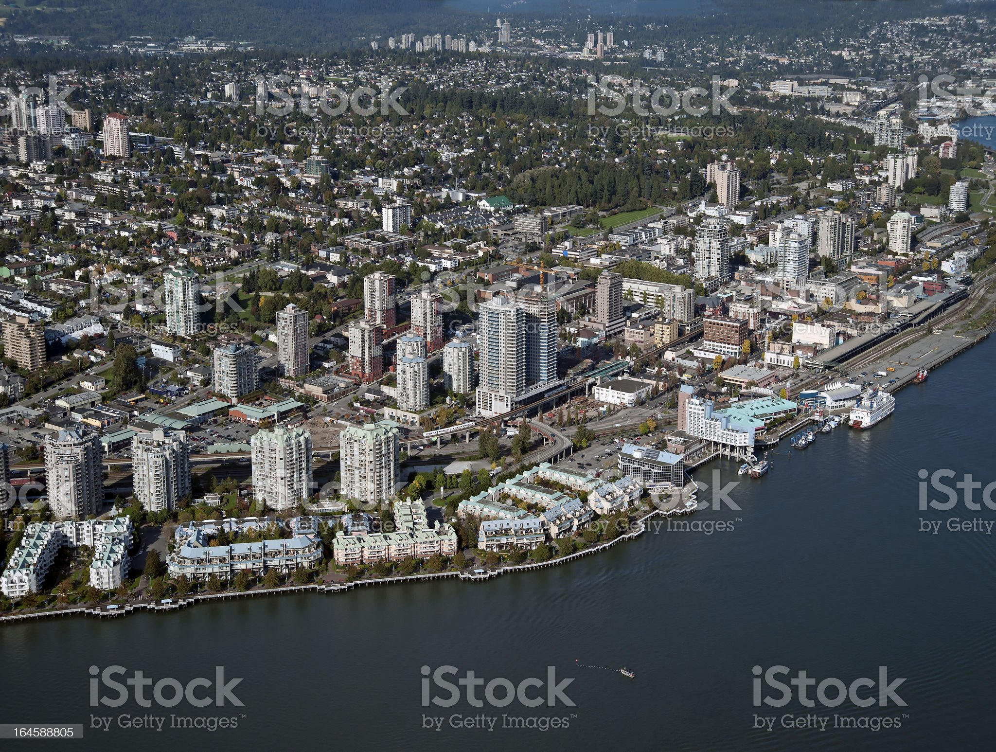 New westminster and Fraser River royalty-free stock photo