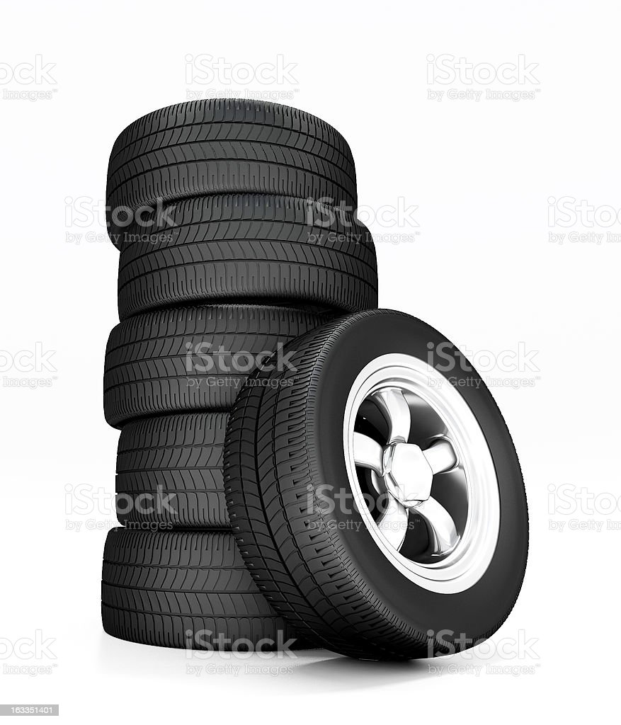 New wheels royalty-free stock photo