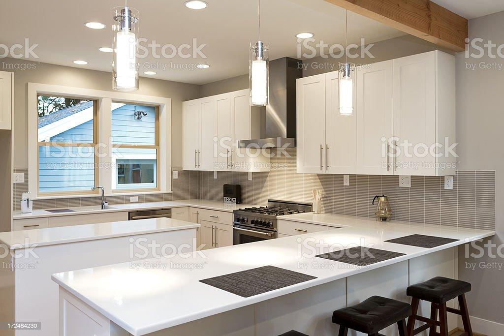 New White Kitchen royalty-free stock photo