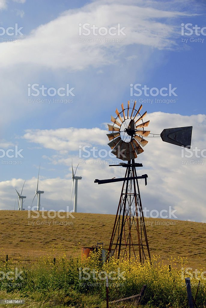 New Windmills For Old royalty-free stock photo