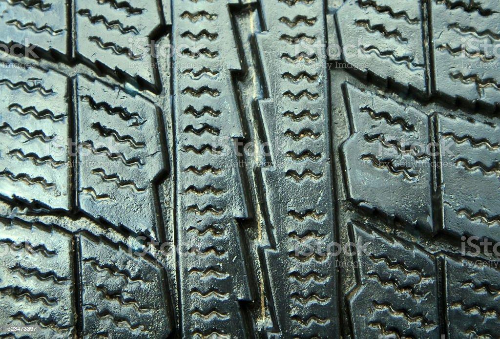New winter tire closeup stock photo