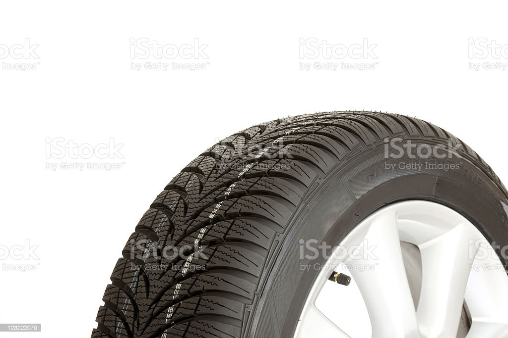 New winter tire royalty-free stock photo