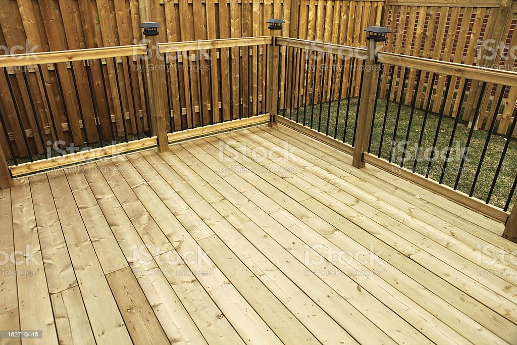 New Wooden Deck stock photo