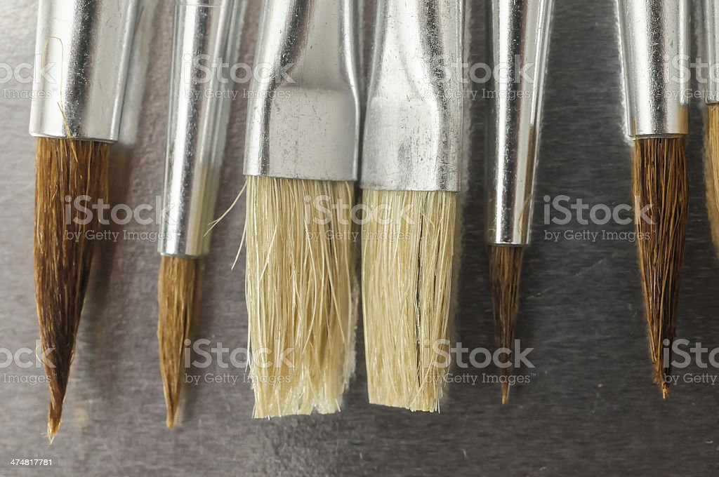 New Wooden Different Paintbrush Texture royalty-free stock photo