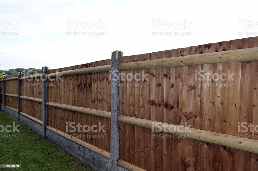 New wooden fencing royalty-free stock photo