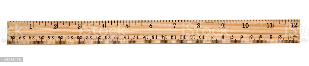 New wooden ruler stock photo
