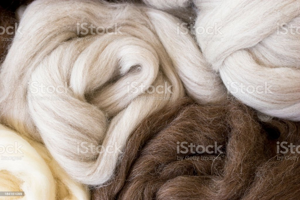New  wool in natural colors royalty-free stock photo