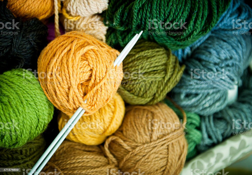 New wool stock photo