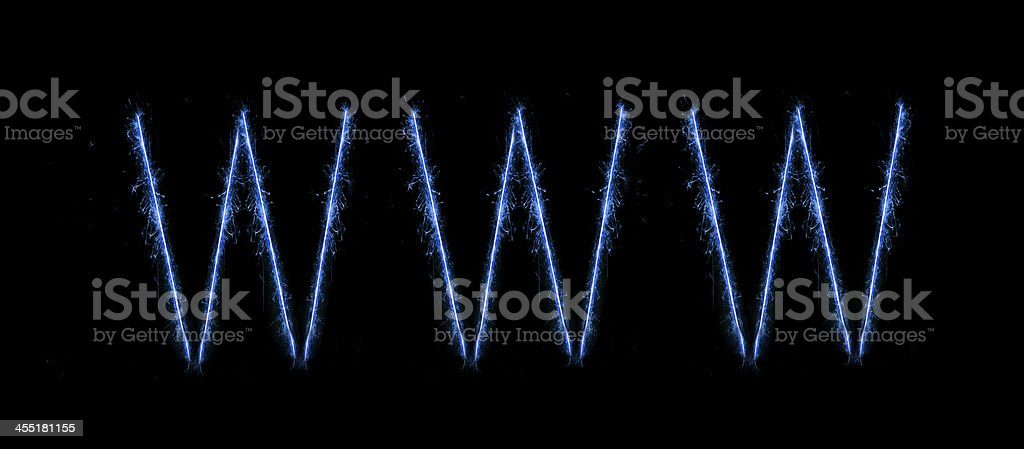 New word wide web blue modern text stock photo