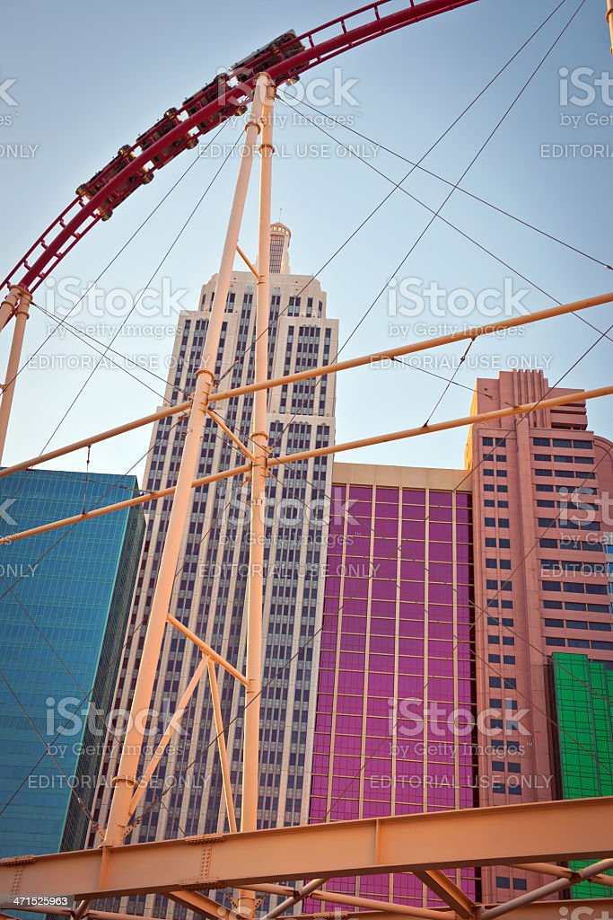 New Work Casino Hotel in Las Vegas, Nevada USA royalty-free stock photo
