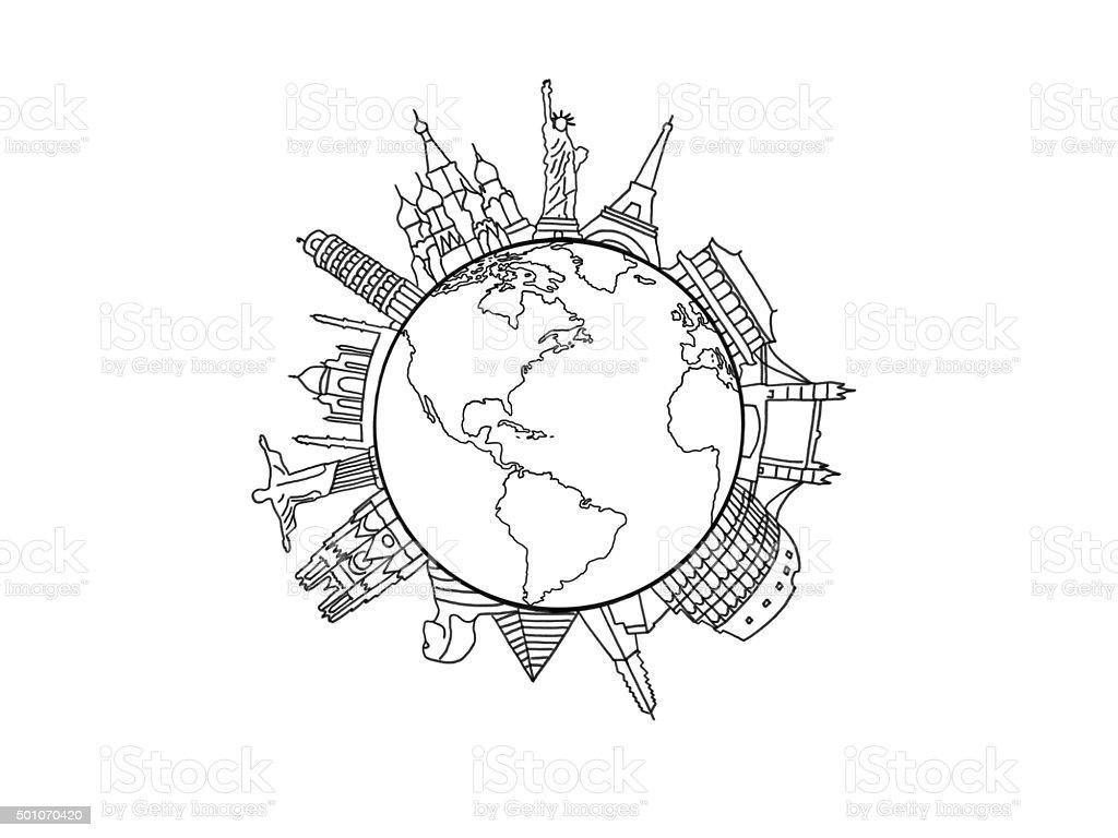 New world graphic stock photo