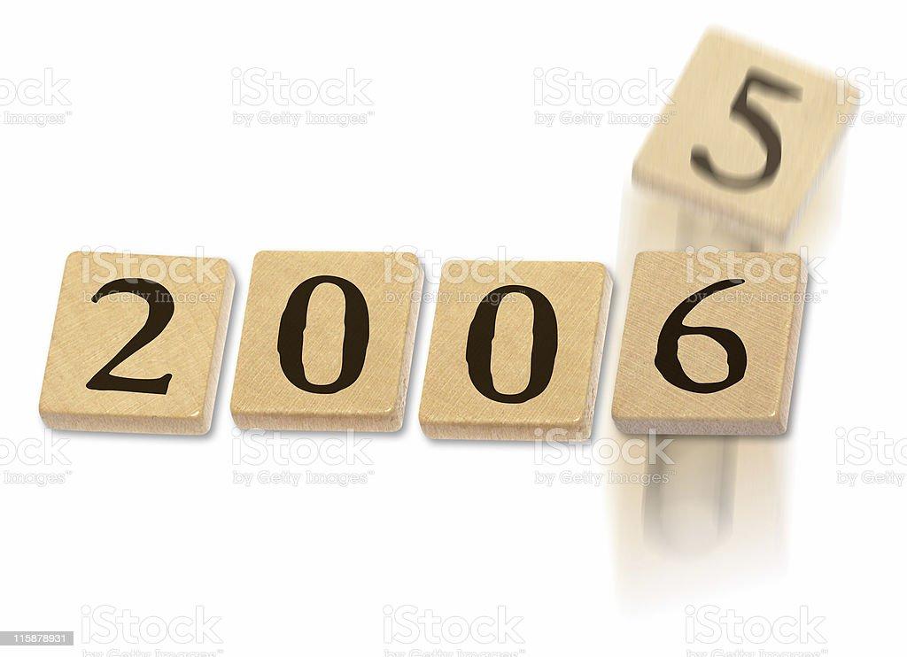 new year 2006 royalty-free stock photo