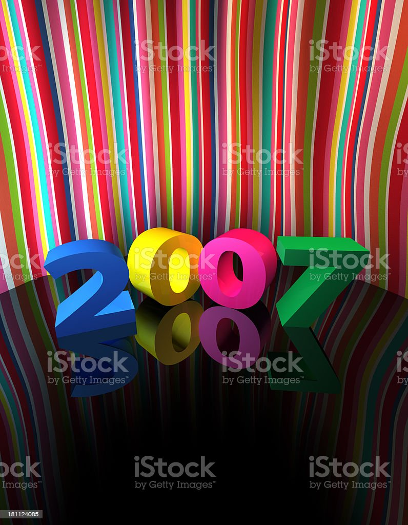 New Year 2007 Backdrop (High Res/XXL) stock photo