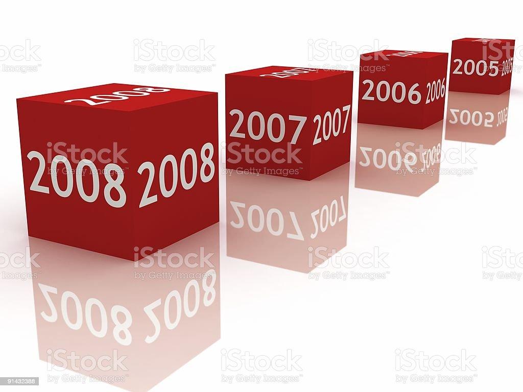 New Year 2008 royalty-free stock photo
