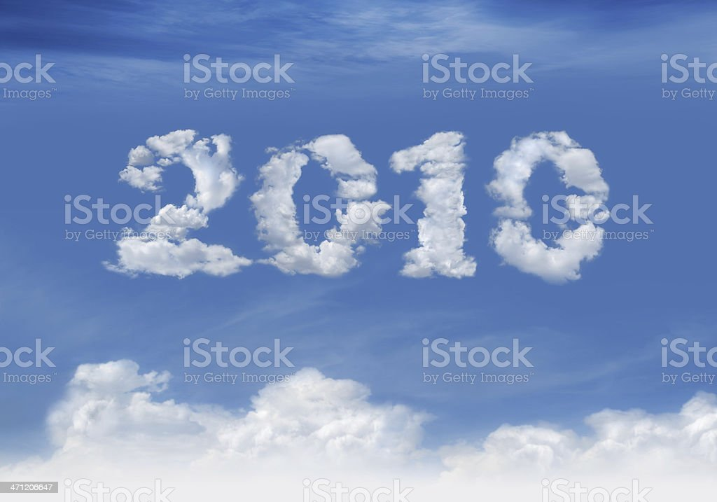New Year: 2010 royalty-free stock photo