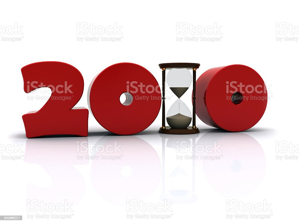 New year 2010 royalty-free stock photo